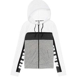 L VS Pink Perfect BLING Full-Zip Hoodie sweatshirt